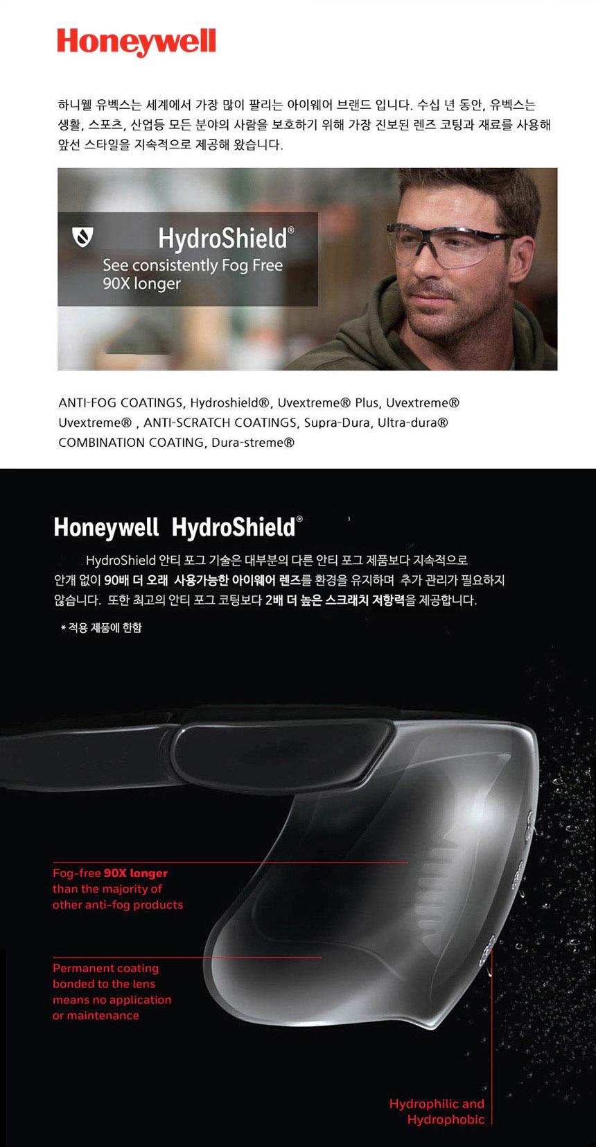 하니웰 A800 Gray 실험용 작업용 보호안경 (1015367) - 위드피플즈, 8,900원, 안경/선글라스, 선글라스